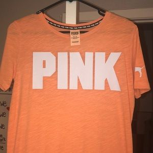 VS PINK bright orange long tee